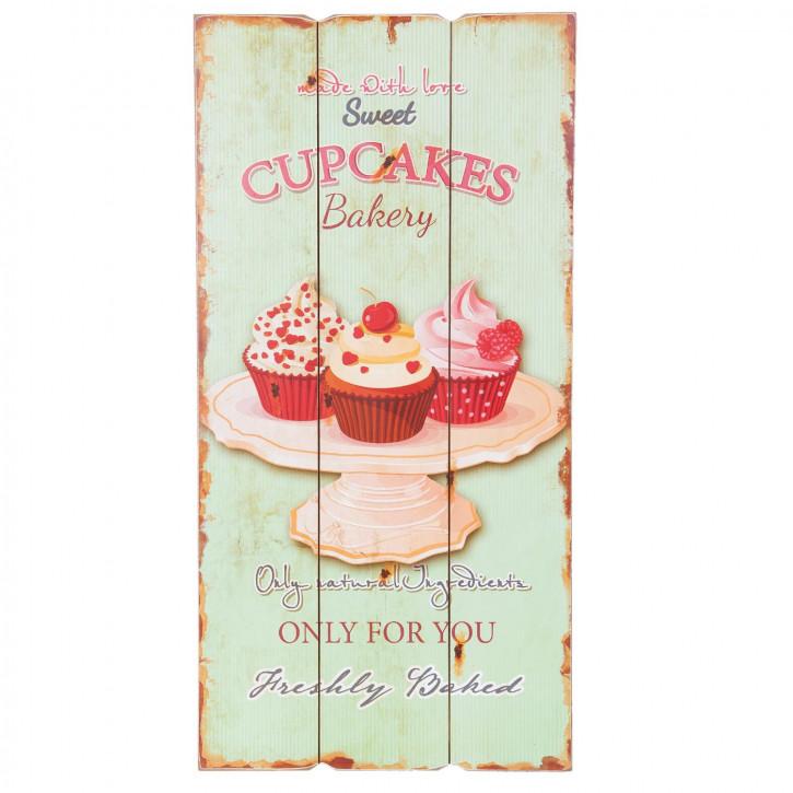 Textschild Cupcakes ca. 30 x 60 x 2 cm