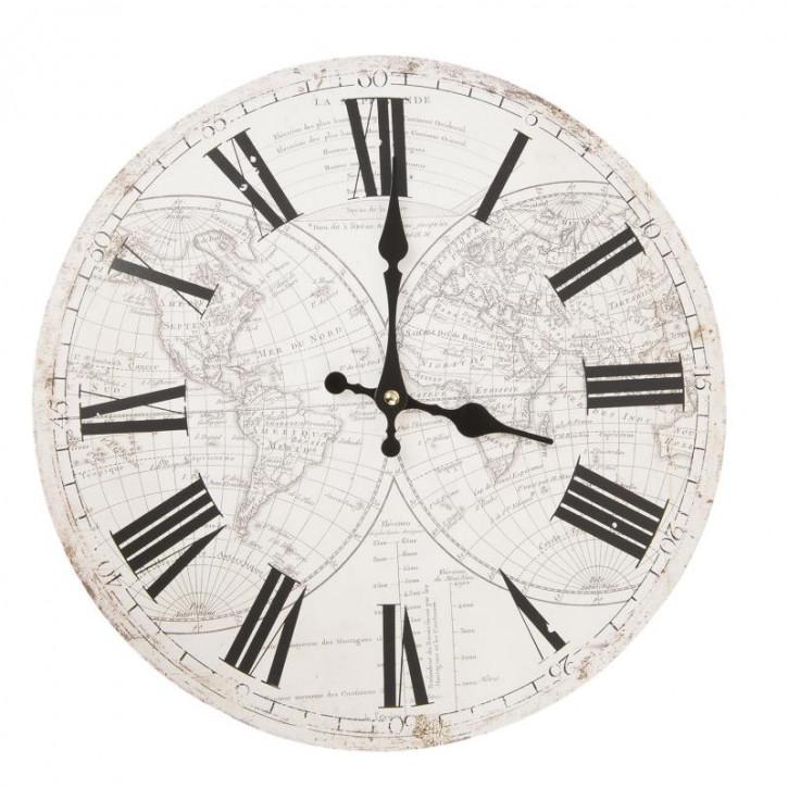 Uhr rustikal 34x4 cm /