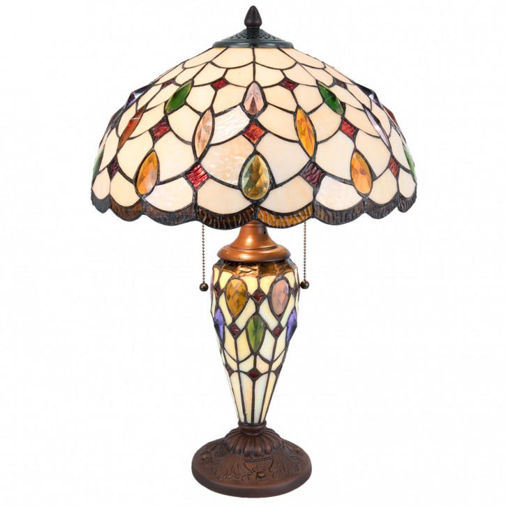 Tiffany Tischlampe komplett 40x60cm 2x E27/60W