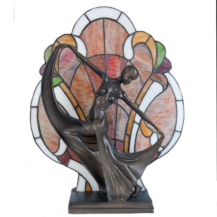 Stehlampe Lichtfigur Frau Tiffany-Stil