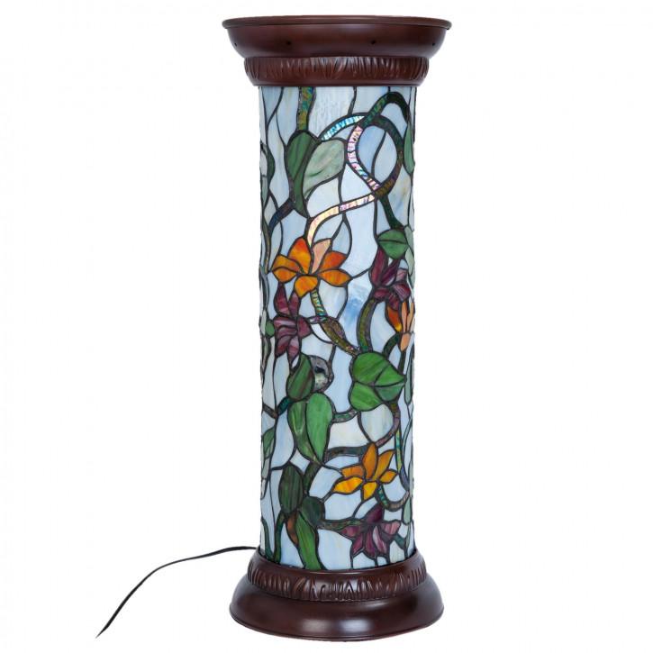 Tiffany Säulenlampe San Francisco 26x68 cm