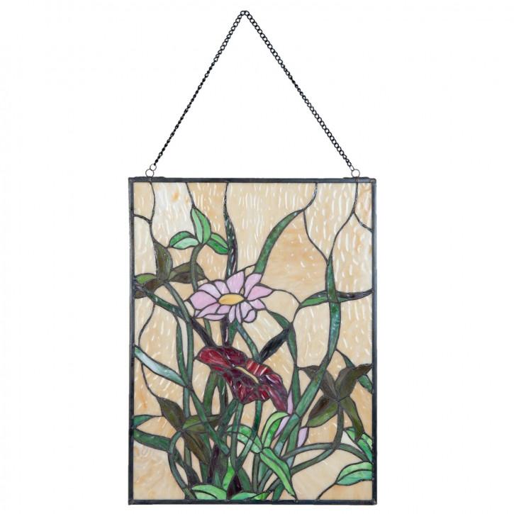 Tiffany Fenster Blüme Ypern 41x61 cm