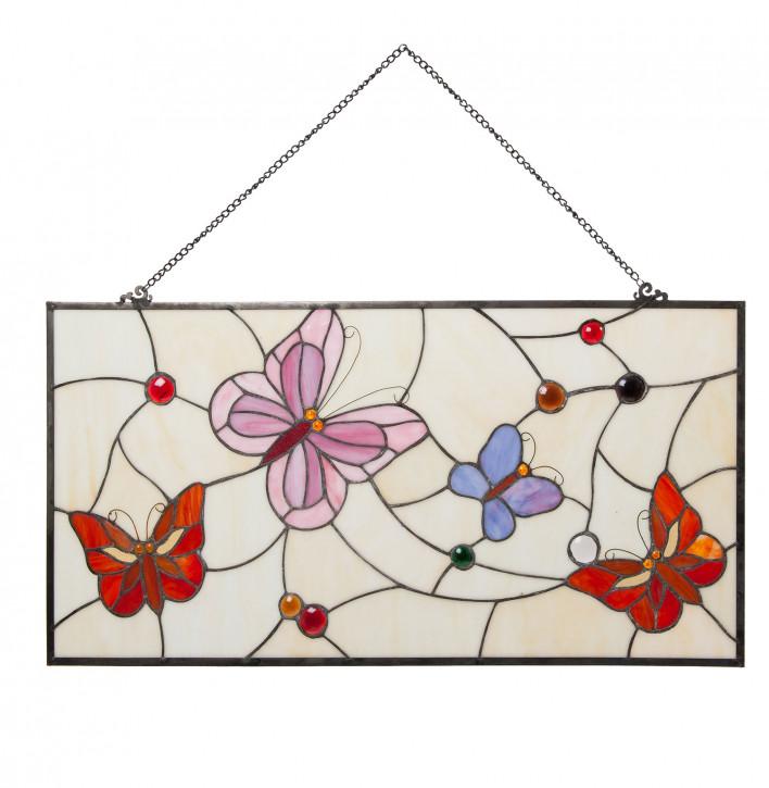 Tiffany Fenster Schmetterlinge Lyon 80x40 cm