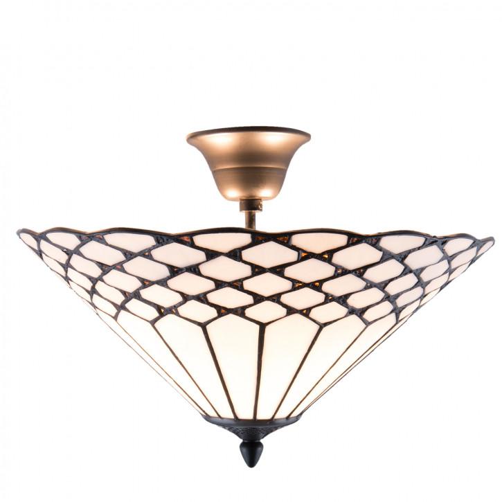 Tiffany Deckenlampe Livorno Ø 40x24 cm 2x E14 max, 40w