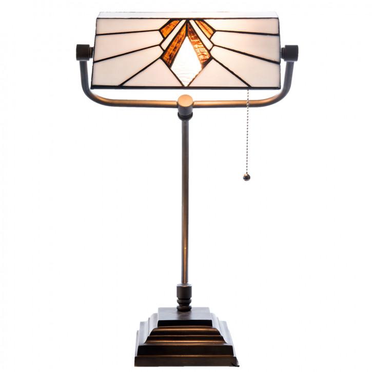 Bürolampe Tiffany Schreibtischlampe Tischlampe Labin Ø 32x20x56 cm 1x E14 max 60w