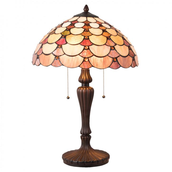 Tischlampe Tiffany Ø 40x60 cm E27/max 2x60W