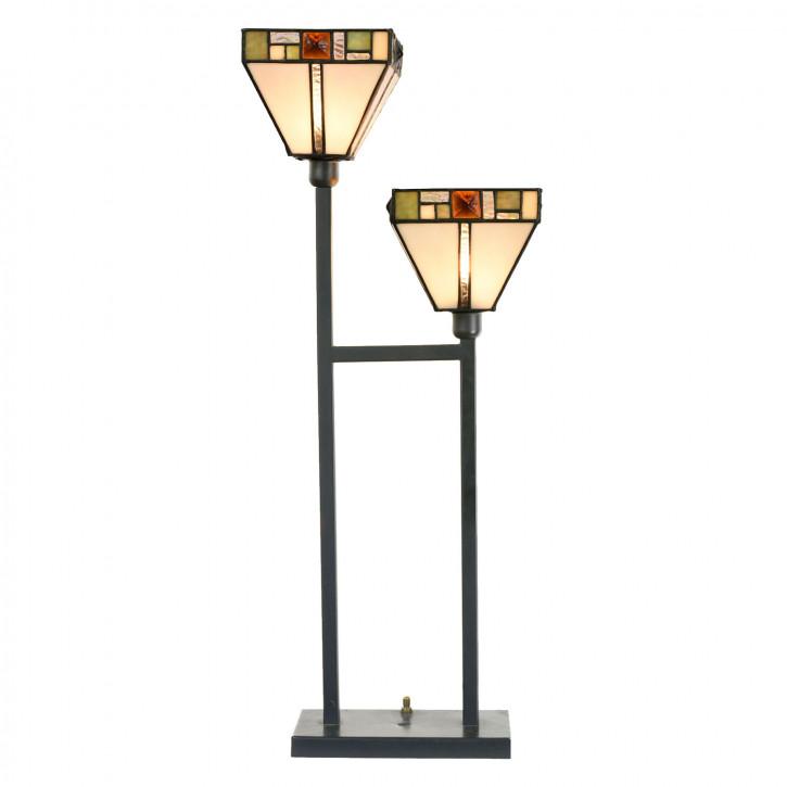 Tischlampe Tiffany 28x15x70 cm E14/max 2x40W