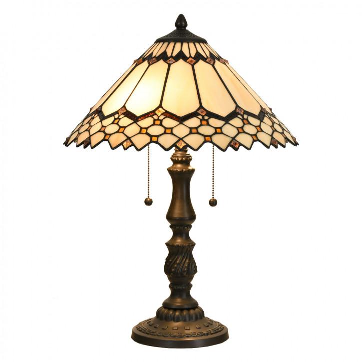 Tischlampe Tiffany Ø 40x55 cm E27/max 2x60W