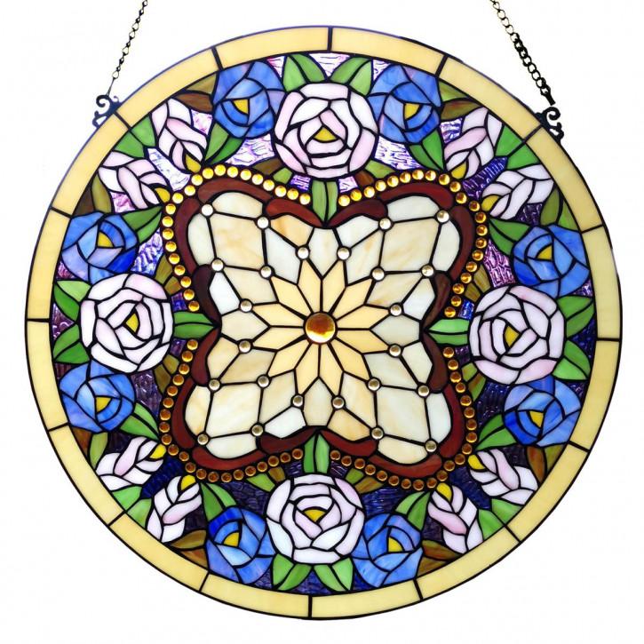 Tiffany-Fensterbild Ø 60 cm