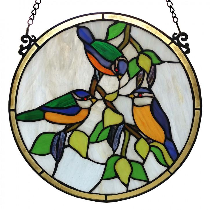Tiffany-Fensterbild Ø 30 cm