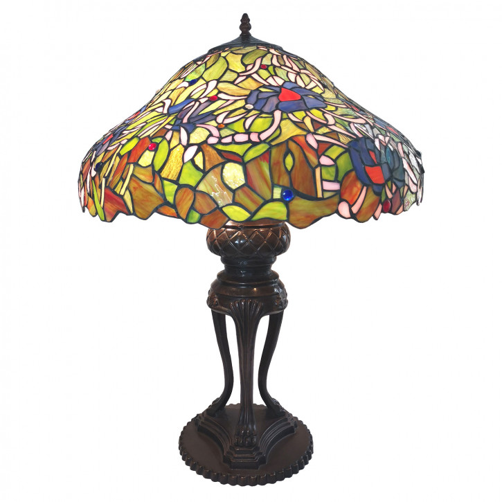 Tischlampe Tiffany Ø 57x83 cm E27/max 3x40W