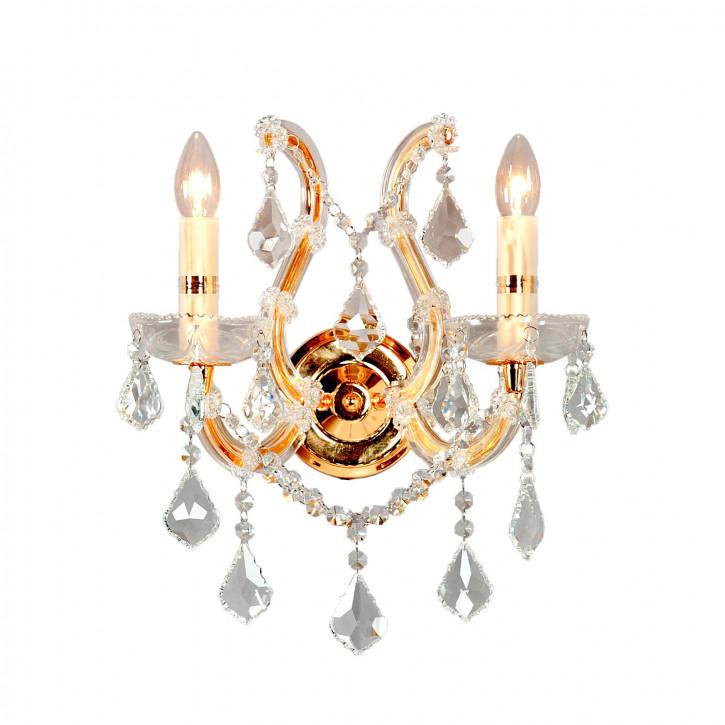 Wandlampe kristal 2-lichts goud 40 x Ø 35 cm 2x E14/40w