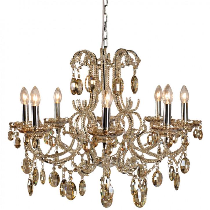 Kristalllampe Chrom/champagne 8-Licheter 58x Ø70 cm 8x E14/40w