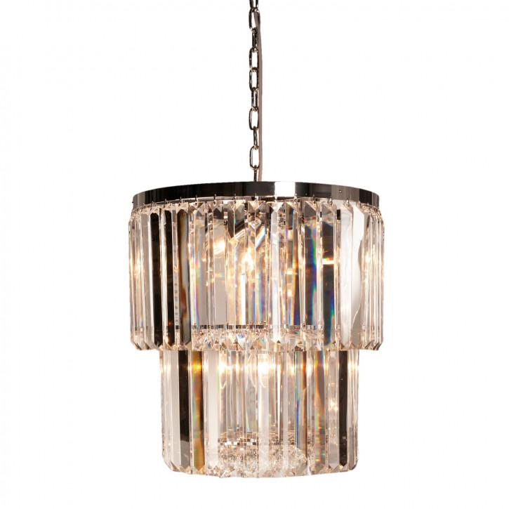 Kristalllampe Chrom/Klar 10 lichts Ø46x52 cm 10x E14/40w