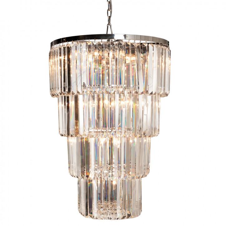 Kristalllampe Chrome/Klar Ø65x96 cm 24x E14/40w
