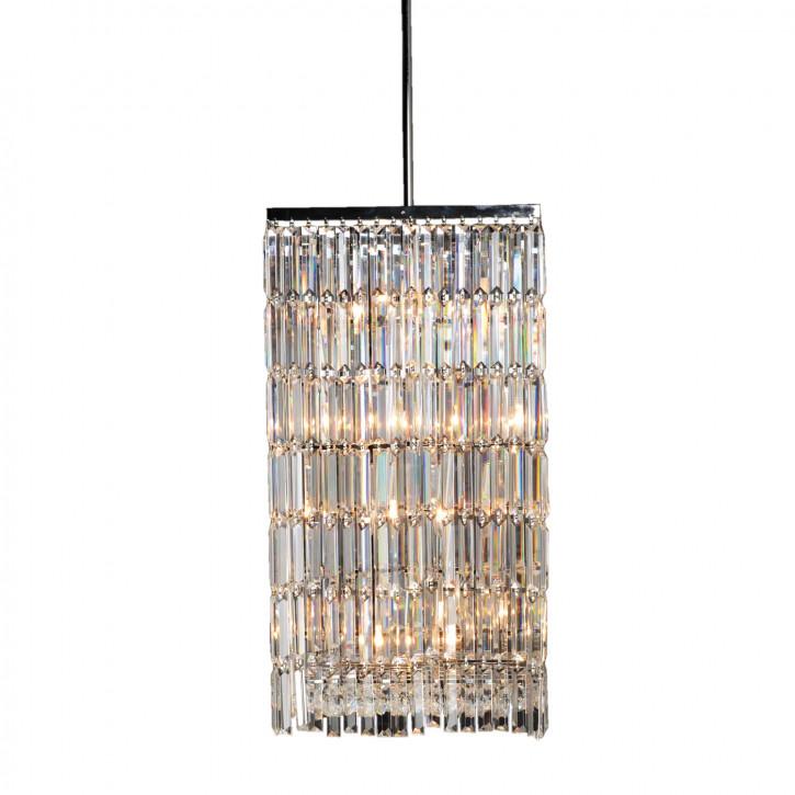 Kristalllampe Chrom/Klar 8-Licheter 45x45x78 cm 8x E14/40w