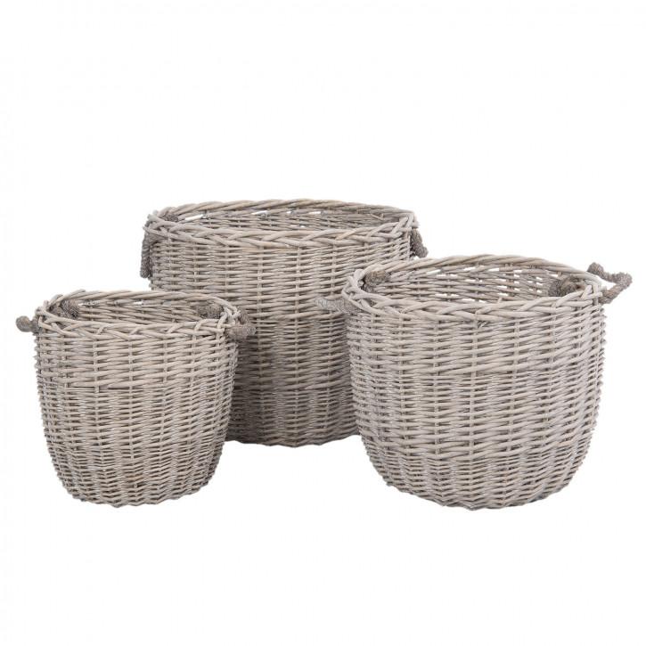 Basket (3) Ø 33x32 / 43x38 / 53x43 cm