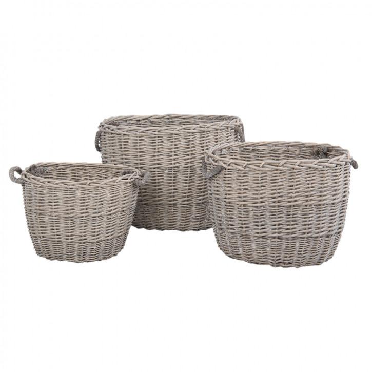Basket (3) 38x28x33 / 49x36x38 / 60x45x43 cm