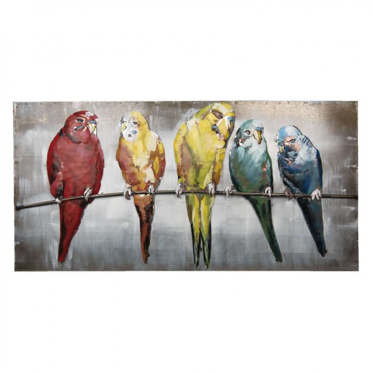Wand Dekoration Vögel 120x60x7 cm