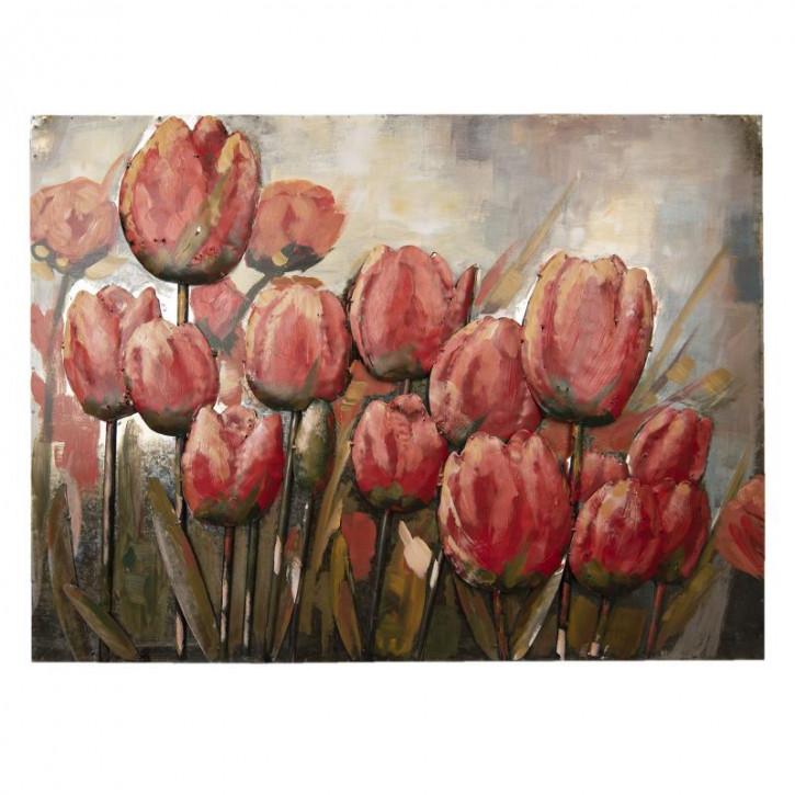 Wand Dekoration Tulpen 100x75x5 cm
