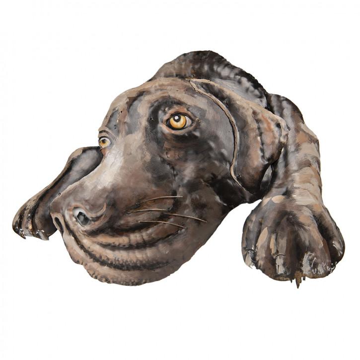 Wand Dekoration Hund 70x52x5 cm