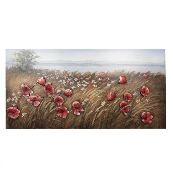 Wand Dekoration Blumen 120x60x4 cm