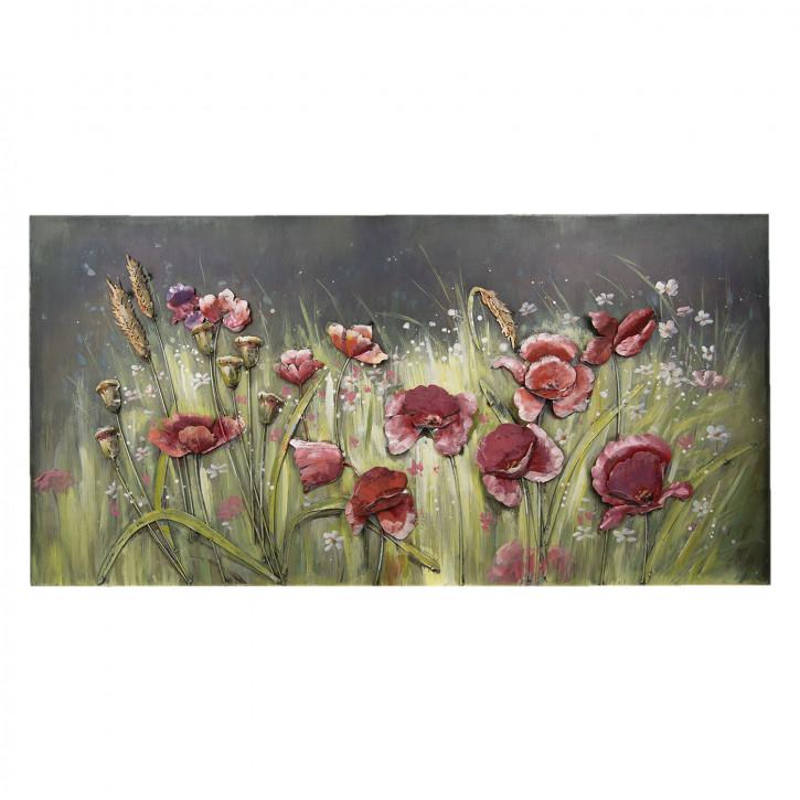 Wand Dekoration Blumen 120x60x6 cm