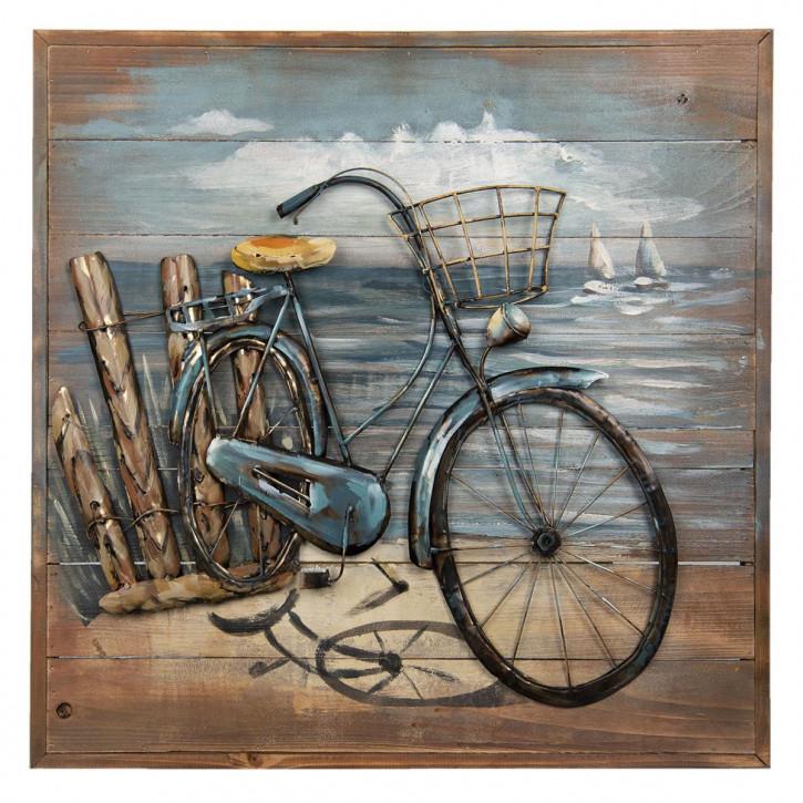 Wand Dekoration Fahrrad 60x60x5 cm