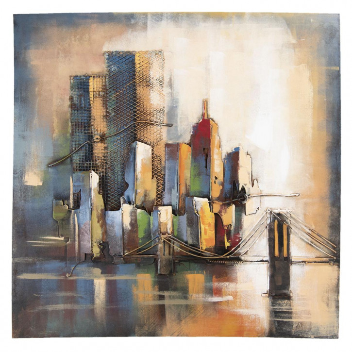 Wand Dekoration Skyline 100x4x100 cm
