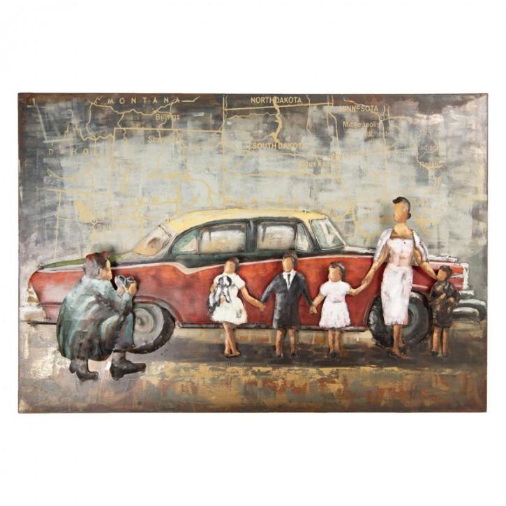 Wanddekoration 120x6x80 cm