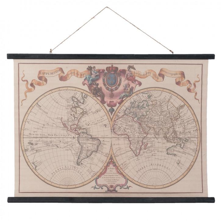 Wall map 105x2x76 cm