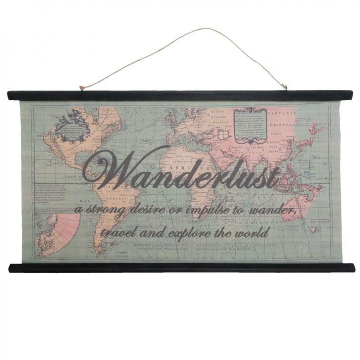 Wandkarte 105x2x55 cm