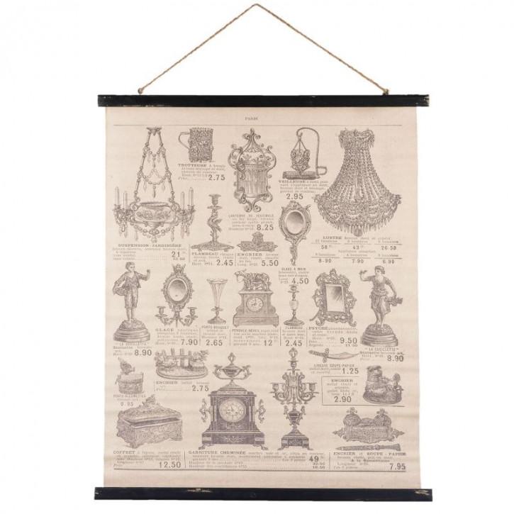 Wandkarte 79x3x100 cm