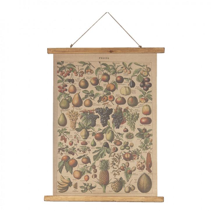 Wandkarte Obst 55x2x75 cm
