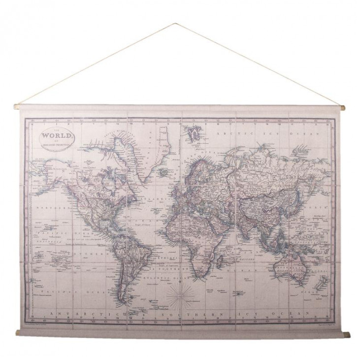 Wandkarte Welt 154x106x3 cm