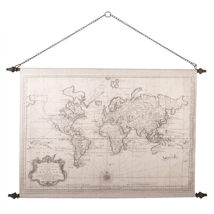 Wandkarte Welt 130x87x4 cm