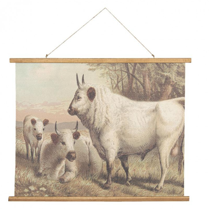 Wandkarte Kühe 100x2x75 cm