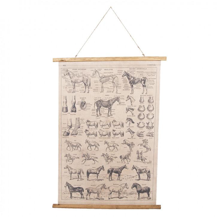 Wandkarte Tiere 100x2x75 cm