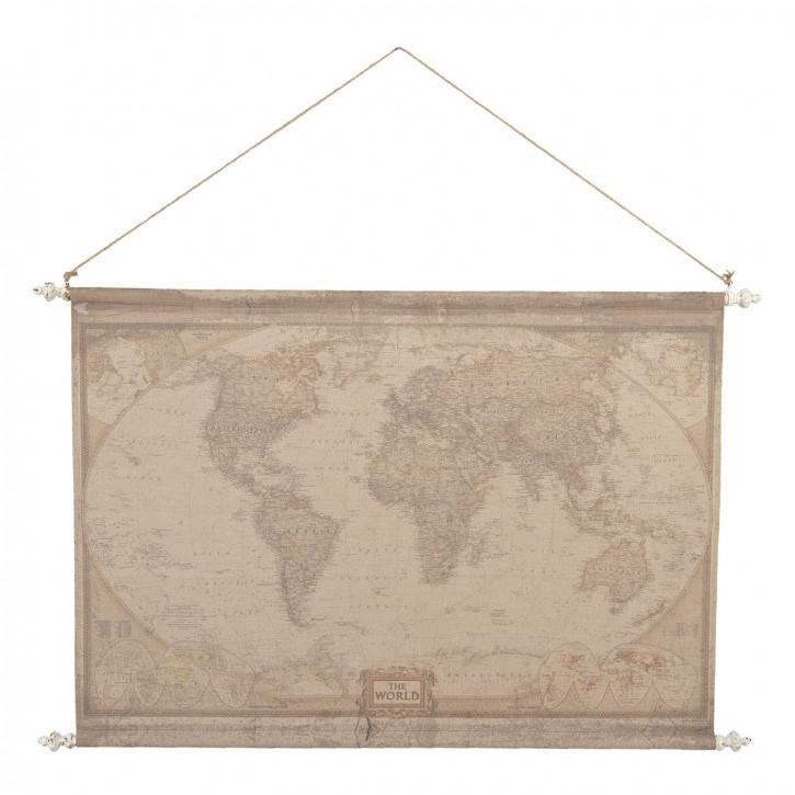 Wandkarte Weltkarte 130x3x100 cm