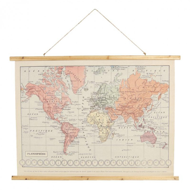 Wandkarte Weltkarte 100x2x75 cm