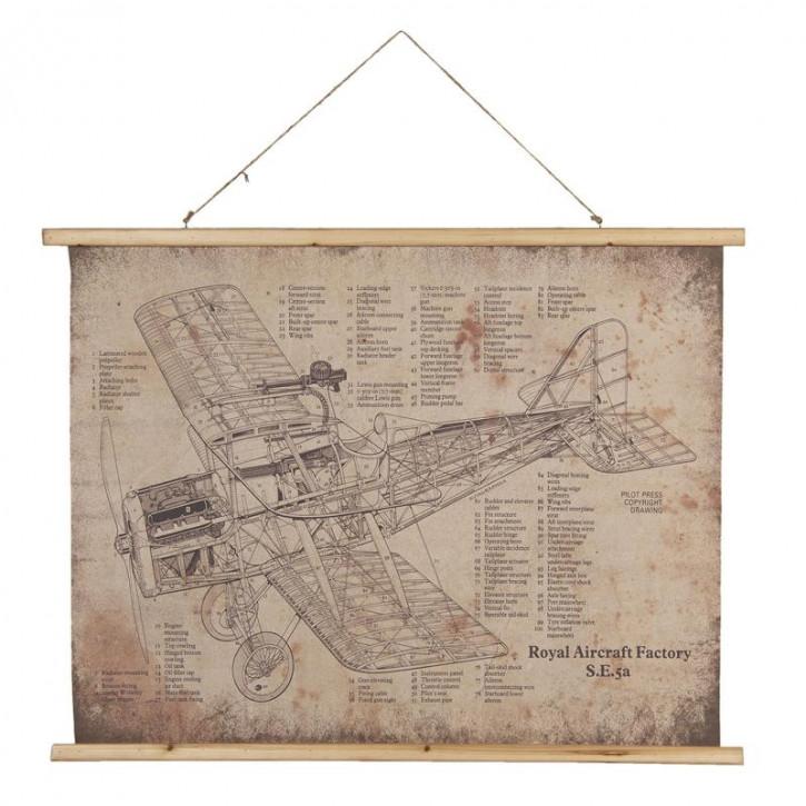 Wandkarte 100x2x75 cm