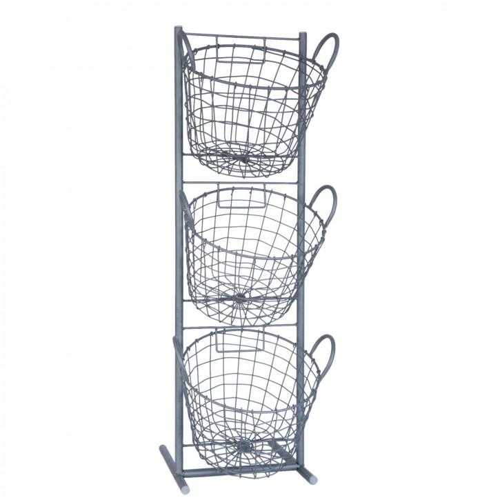 Iron rack 29x27x90 cm