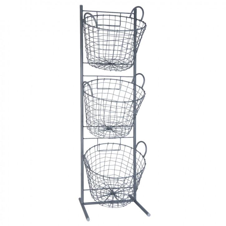 Iron rack 35x33x114 cm