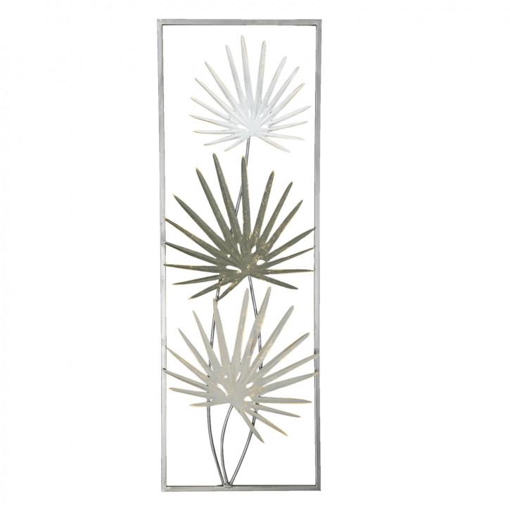Wanddekoration Blumen 31x90x4 cm
