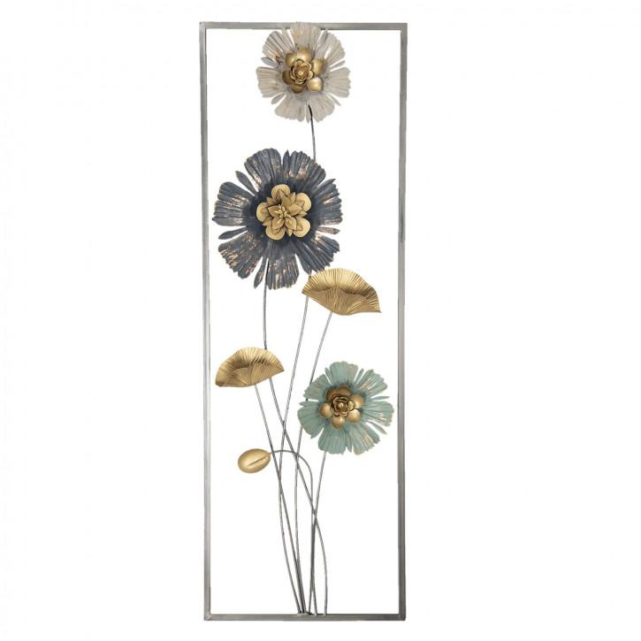 Wanddekoration Blumen 31x6x90 cm