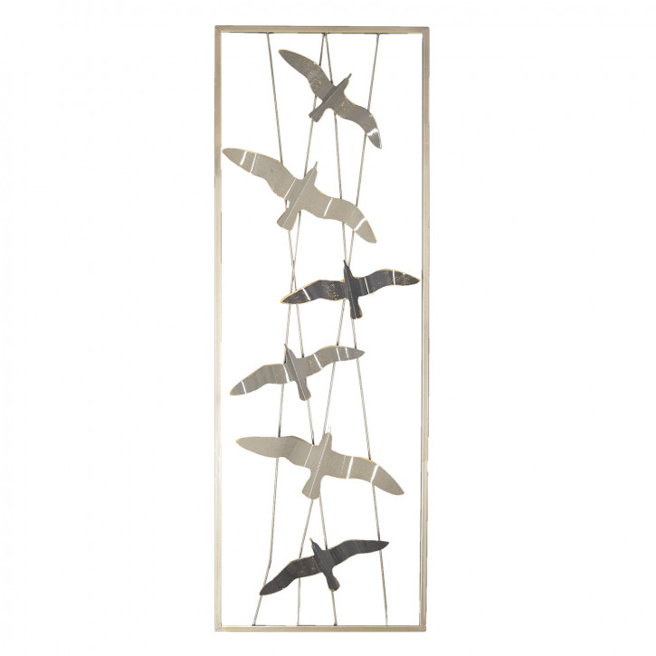 Wanddekoration Vögel 31x90x4 cm