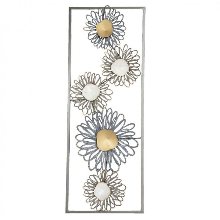 Wanddekoration Blumen 29x74x3 cm