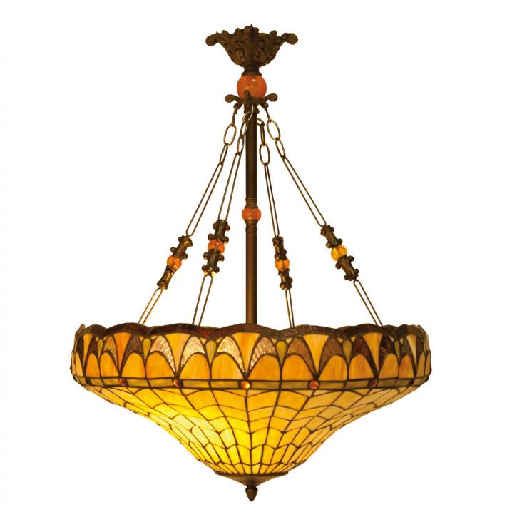 Hängelampe Tiffany-Stil ca. Ø 58 x 77 cm