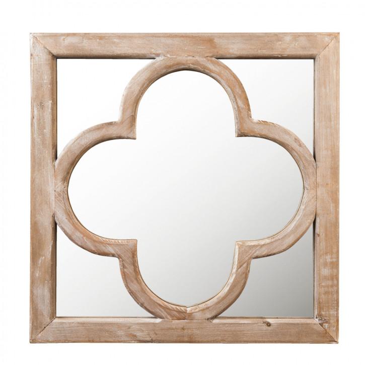Spiegel Holzrahmen 50x2x50 cm