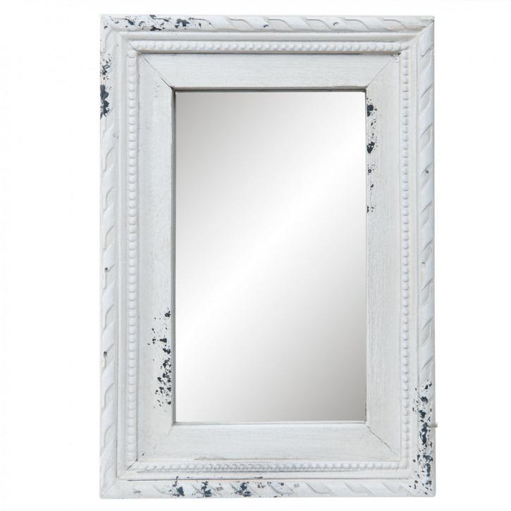 Spiegel mit Rahmen in weiß 14x2x20 cm